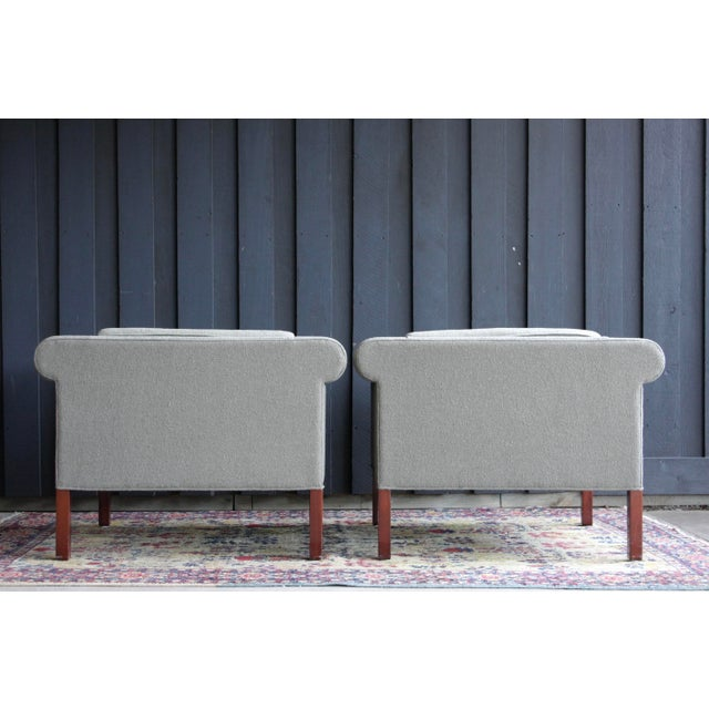 Brown Charles McMurray Postmodern Lounge Chairs, a Pair For Sale - Image 8 of 11