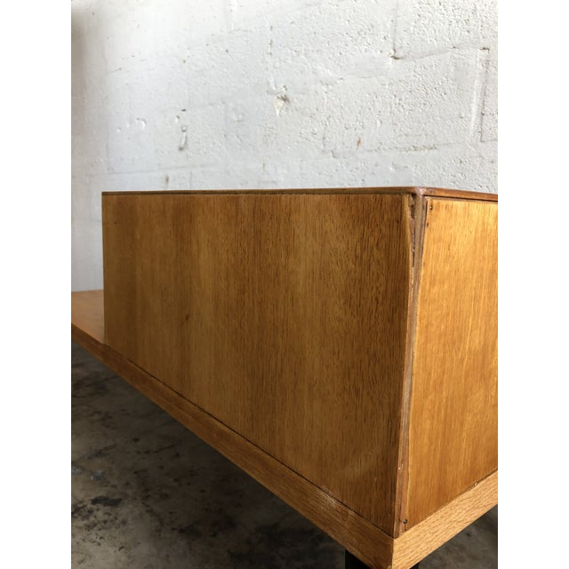 Wood Vintage Mid Century Modern Phone Table by Raymond Loewy for Mengel Furniture For Sale - Image 7 of 13