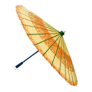 Vintage Chinese Asian Parasol Umbrella For Sale