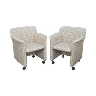 Stendig Mid Century Modern Style Upholstered Arm Chairs For Sale