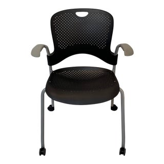 Herman Miller Caper Black Stacking Chair For Sale