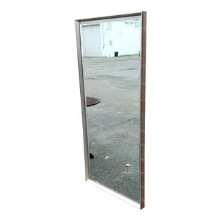 Vintage Mid -Century Chrome & Metal Frame La Barge Hanging Wall Mirror C191960s For Sale