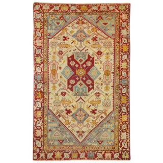 20th Century Turkish Oushak Accent Rug - 3′11″ × 6′3″ For Sale