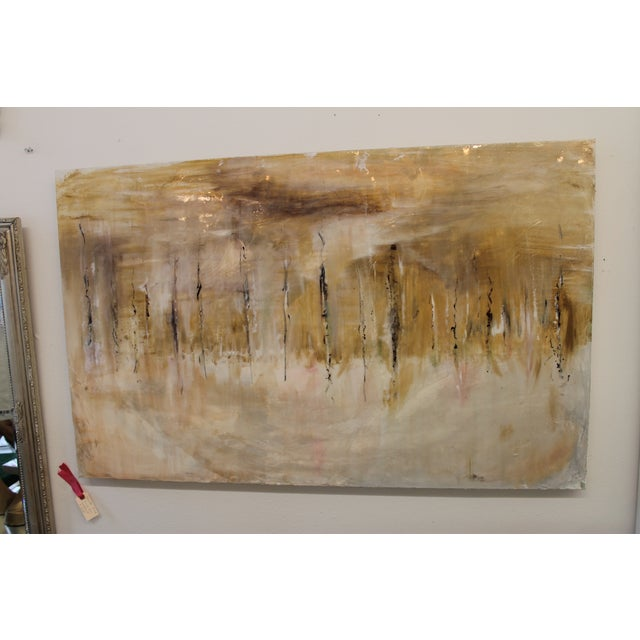 One-Of-A-Kind Mixed Media Abstract Work - Image 2 of 5