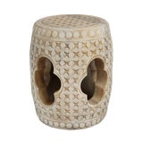 Image of White Marble Garden Stool For Sale