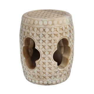 White Marble Garden Stool For Sale