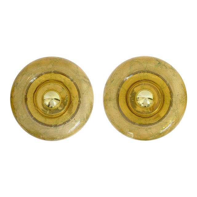 """Large """"Donut"""" Wall Lights by Walter Donner - a Pair For Sale"""