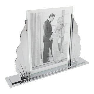 French Art Deco Chrome Picture Frame For Sale