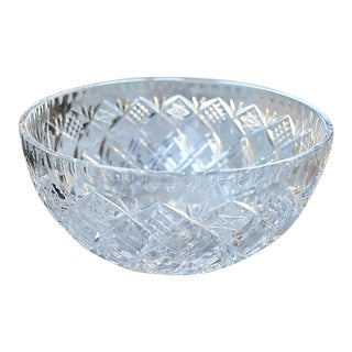 Vintage Crystal Star-Motif Bowl For Sale