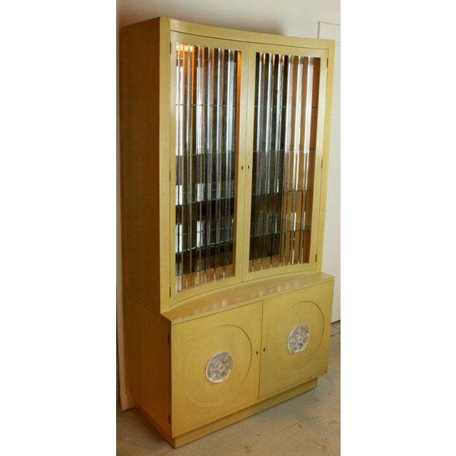Beautiful display cabinet Designed by Lorin Jackson for Grosfeld House. A stunning stepback form from top to bottom....