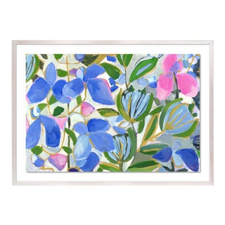 St Barth's Lilac by Lulu DK in White Wash Framed Paper, Medium Art Print For Sale