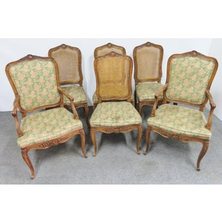 Henredon Louis XV Floral Carved Oak Dining Chairs- Set of 6 Preview