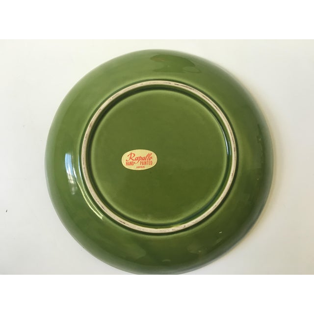 Green 1960s Hand Painted Ceramic Pitcher & Serving Set For Sale - Image 8 of 8
