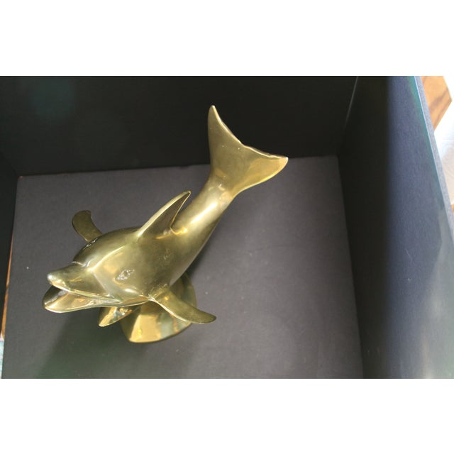 Large Brass Dolphin - Image 5 of 6