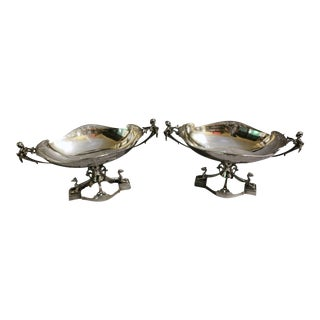 Mid 19th Century Entruscan Revival Sterling Compotes by Gorham - a Pair For Sale