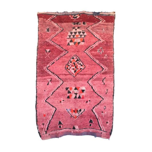 "Vintage Boujaad Moroccan Rug - 5'7"" X 8'11"" - Image 6 of 6"