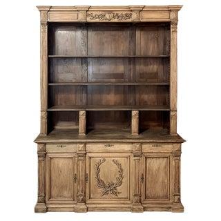 Bookcase, 19th Century French Henri II Bookcase in Walnut & Oak For Sale