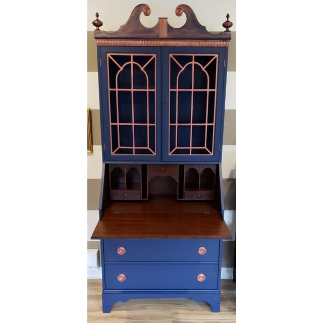 Early 20th century Chippendale and Sheraton revival piece is from a large collection of pieces purchased in Lambertville...