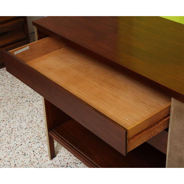 Paul McCobb Calvin Walnut Buffet with Top Cabinet - Image 5 of 8