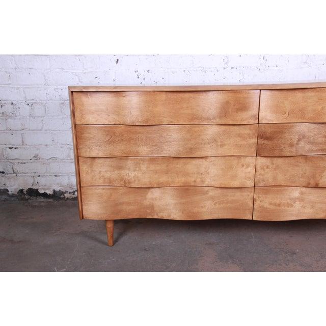 Edmond Spence Wave Front Long Dresser For Sale In South Bend - Image 6 of 11