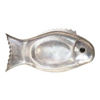 Vintage Arthur Court Aluminum Fish Serving Tray Circa 1975 For Sale