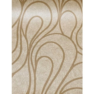 Abstract Natural Swirl Lines Pattern Wallpaper For Sale