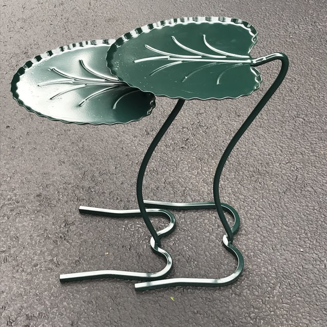 """1950s Vintage Salterini """"Lily Pad"""" Nesting Patio Tables - a Pair For Sale - Image 10 of 12"""