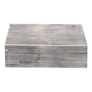 Curated Kravet Ran Bone Box, Large For Sale