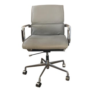 Meelano Vegan Leather & Chrome Desk Chair