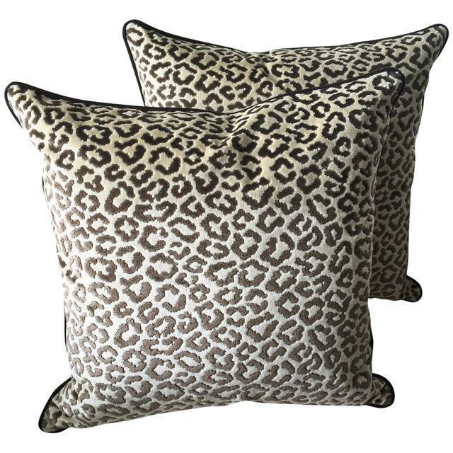 Lee Jofa Leopard Velvet Pillows - A Pair - Image 1 of 4