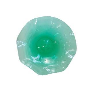 Mid-Century Modern Blenko Green Art Glass Centerpiece For Sale