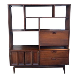 1960s Vintage Mid-Century Modern Bookcase For Sale