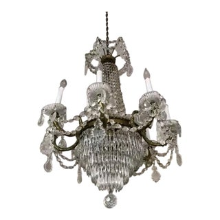 Vintage French Empire Crystal Chandelier For Sale