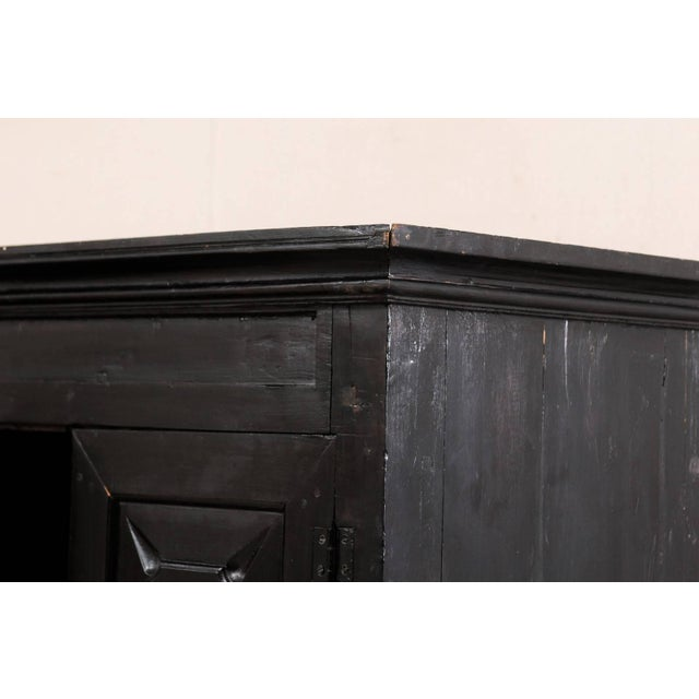 Mid 20th Century Large British Colonial Cabinet From the Mid-20th Century of Dark Ebonized Wood For Sale - Image 5 of 12