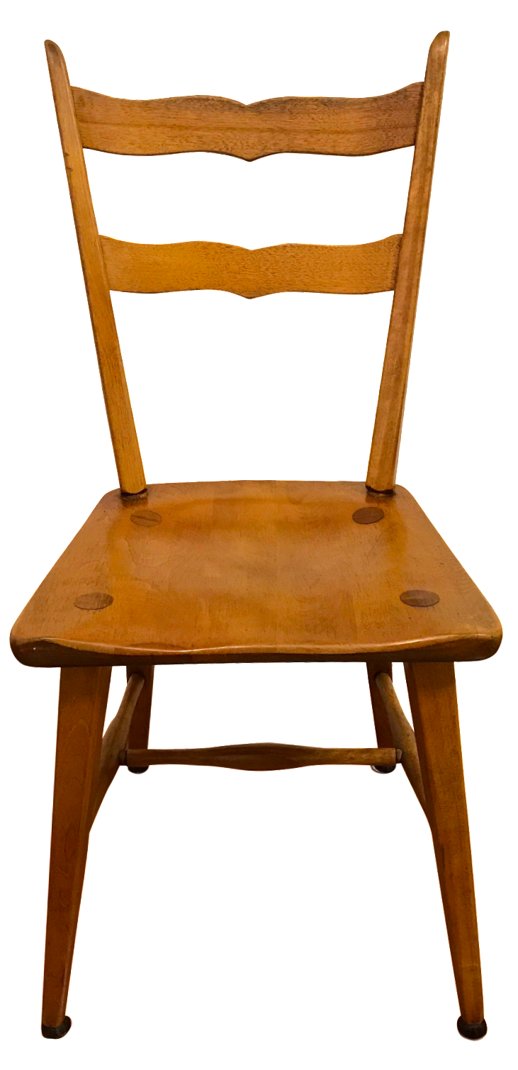 Mid century cushman birch solid wood chair chairish