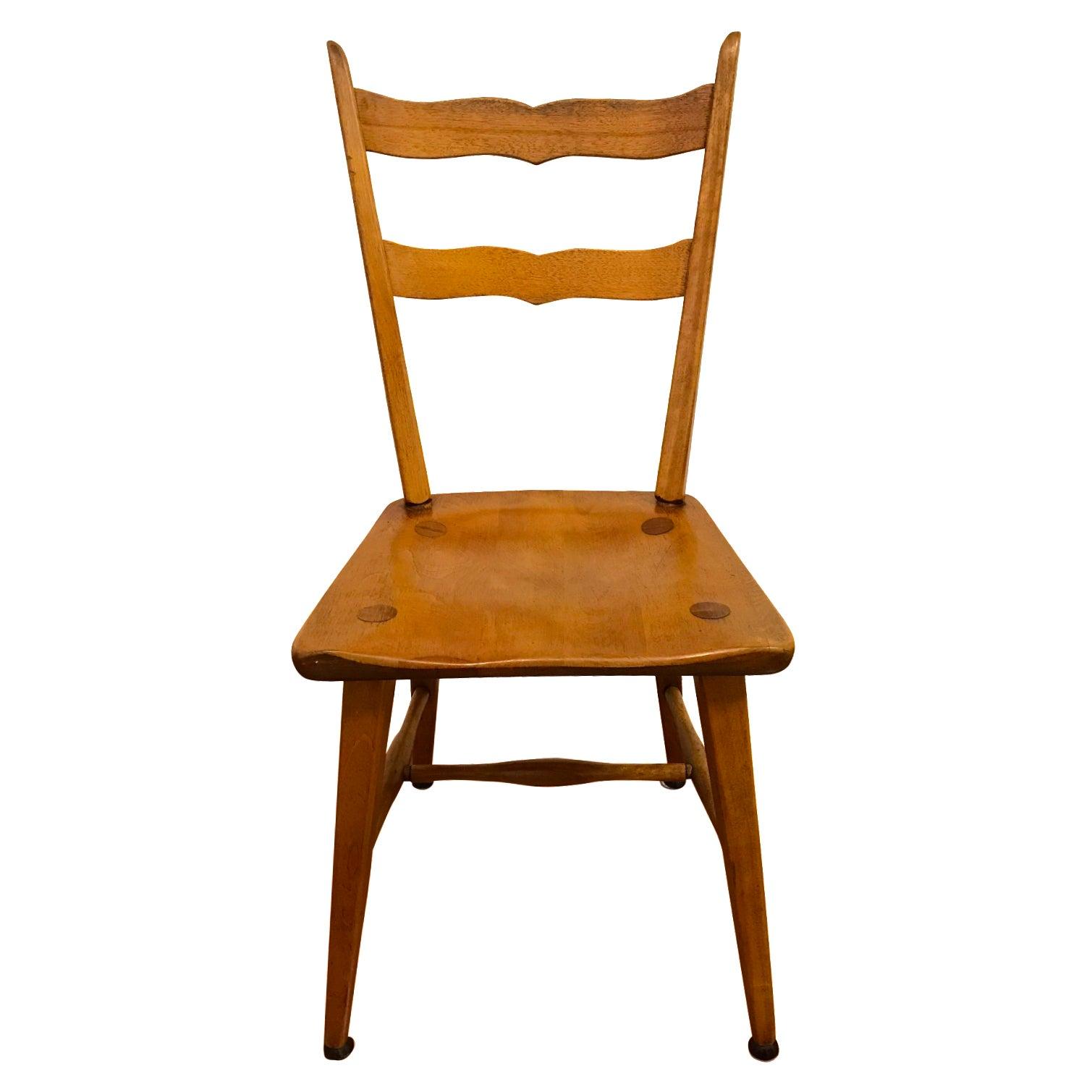 Mid century cushman birch solid wood chair chairish