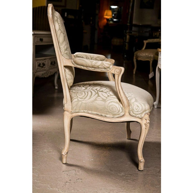 French Louis XV Style Armchairs - A Pair For Sale - Image 5 of 9