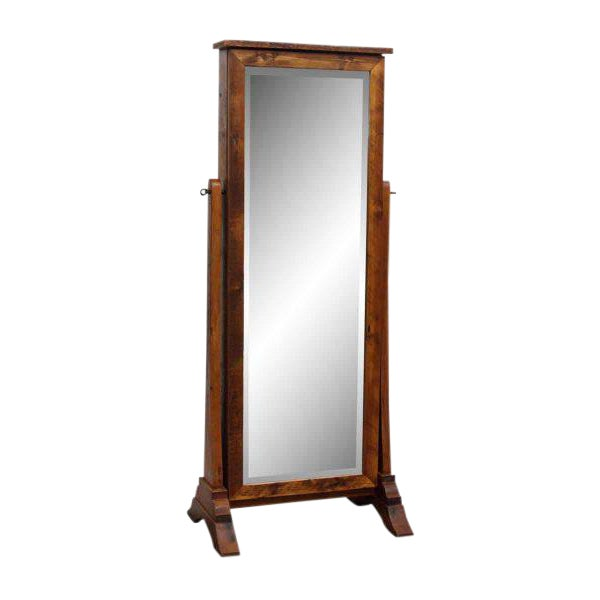 Handmade Pine Cheval Jewelry Cabinet Mirror - Image 1 of 10