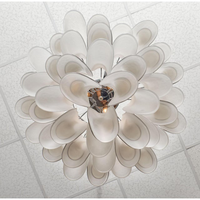 "Murano Glass ""Selle"" Chandelier For Sale - Image 9 of 10"