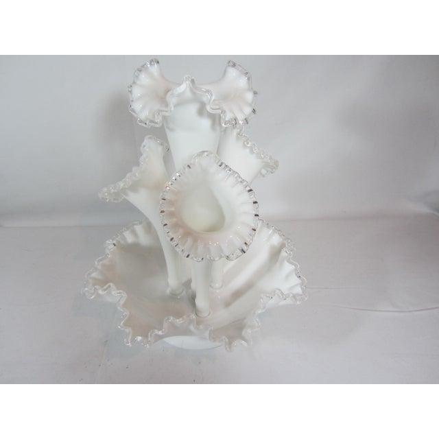 Fenton Epergne Ruffled Vase - Image 6 of 8