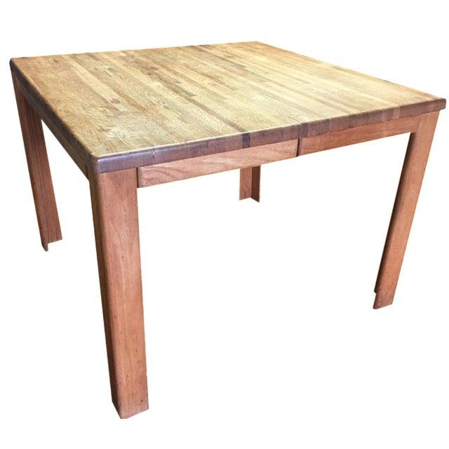 Oak Butcher Block Dining Table - Image 1 of 7