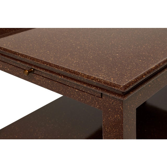 Contemporary Practical Nightstand in Porphyry - Miles Redd for The Lacquer Company For Sale - Image 3 of 6