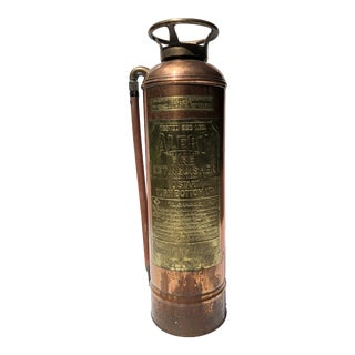 1930s American Copper and Brass Fire Extinguisher For Sale
