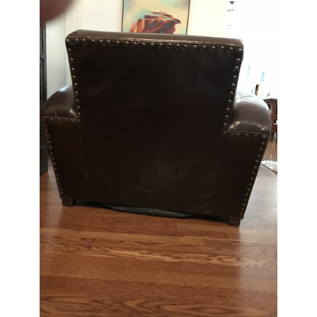Restoration Hardware Library Leather Chair Chairish