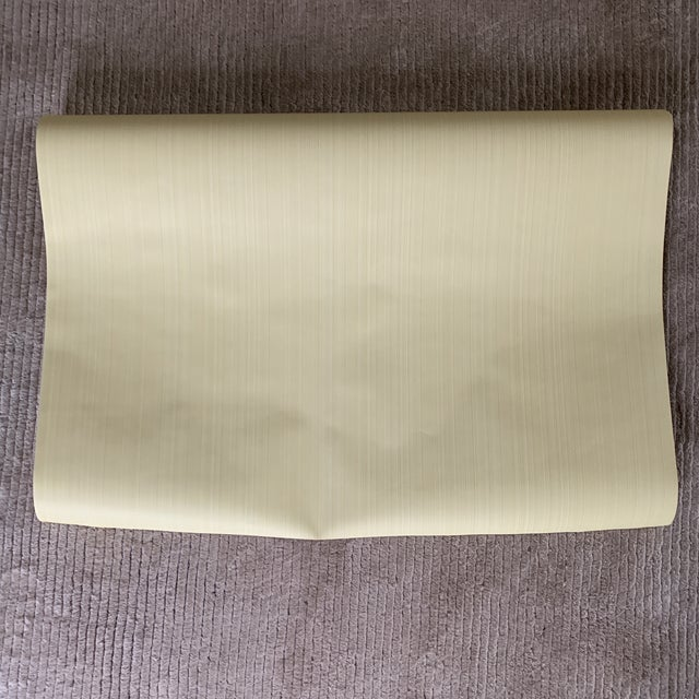 Yellow Thibaut Yellow Strie Wallpaper Roll- Double Roll For Sale - Image 8 of 8