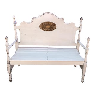 Repurposed Headboard and Footboard Bench For Sale