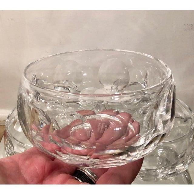 1960s Signed Edinburgh Scottish Crystal Bowls - Set of 16 For Sale - Image 5 of 7