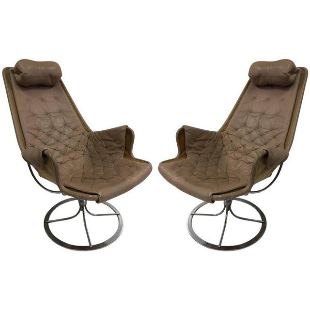 Pair of Bruno Mathsson Jetson Lounge Chairs for DUX For Sale In New York - Image 6 of 6