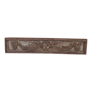 18th Century Italian Carved Wood Putti Panel For Sale