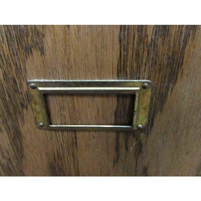 Wood Antique Wooden Locker Unit For Sale - Image 7 of 10